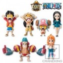 One Piece World Collectable Figure WCF Iron Pirate Franky Shogun  by Banpresto Set of 6 Pieces