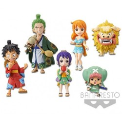 One Piece World Collectable Figure WCF Wano Country Wanokuni Vol. 1 by BANPRESTO Set of 6 Pieces
