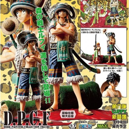 PLEX One Piece Monkey D. Luffy Door Painting Collection D.P.C.F Animal Ver. 1/7 Scale PVC Figure