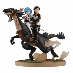 KADOKAWA Re:Zero Starting Life in Another World Rem & Subaru Attack on the White Whale Ver. KDColle PVC Figure